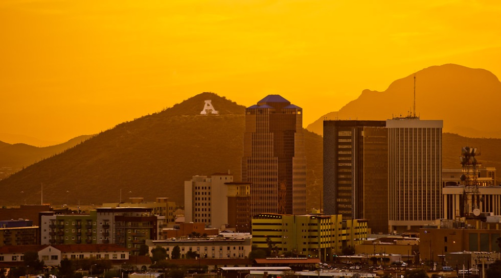 Tucson at sunset